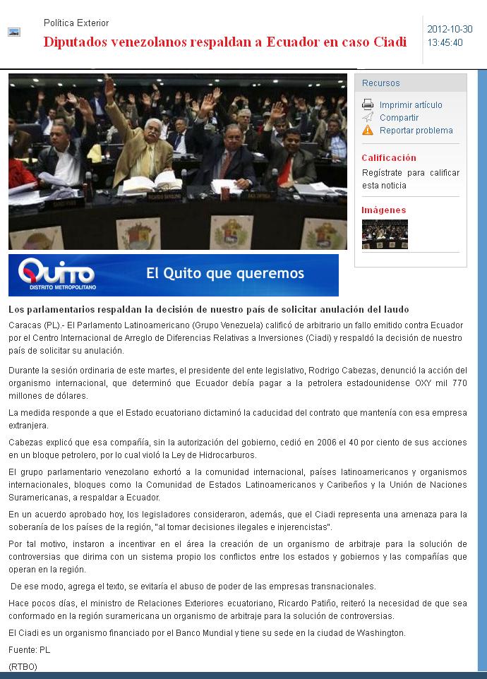 45-2012-10-30_Ecuadorinmediato_Diputados_venezolanos_respaldan_a_Ecuador_en_Caso_Oxy