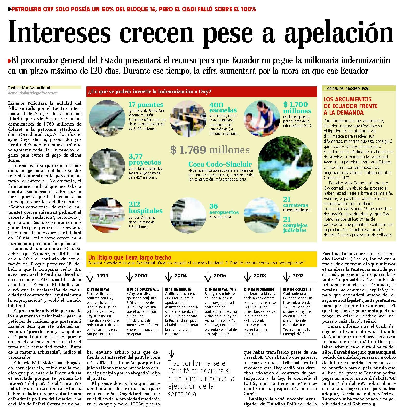 73-El telegrafo, Intereses crecen pese a apelacion 09 10