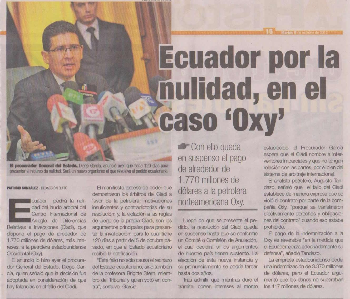 84-PP (Periodico Popular) Ecuador por la nulidad, en el caso Oxy 09 10