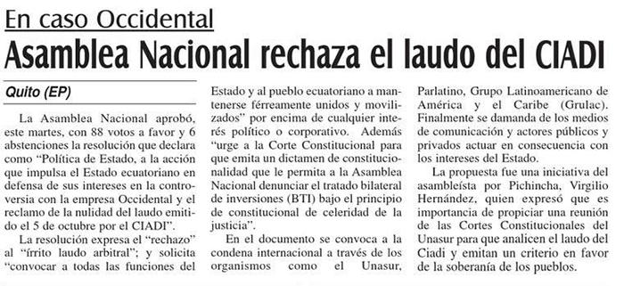 28-2012-10-31_El_Mercurio_Oxy_Asamblea_Nacional_rechaza_el_laudo_del_CIADI
