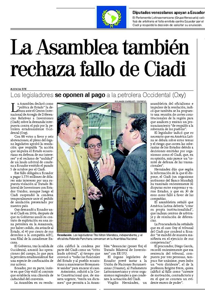 32-2012-10-31_Expreso_Oxy_La_Asamblea_tambien_rechaza_fallo_del_CIADI