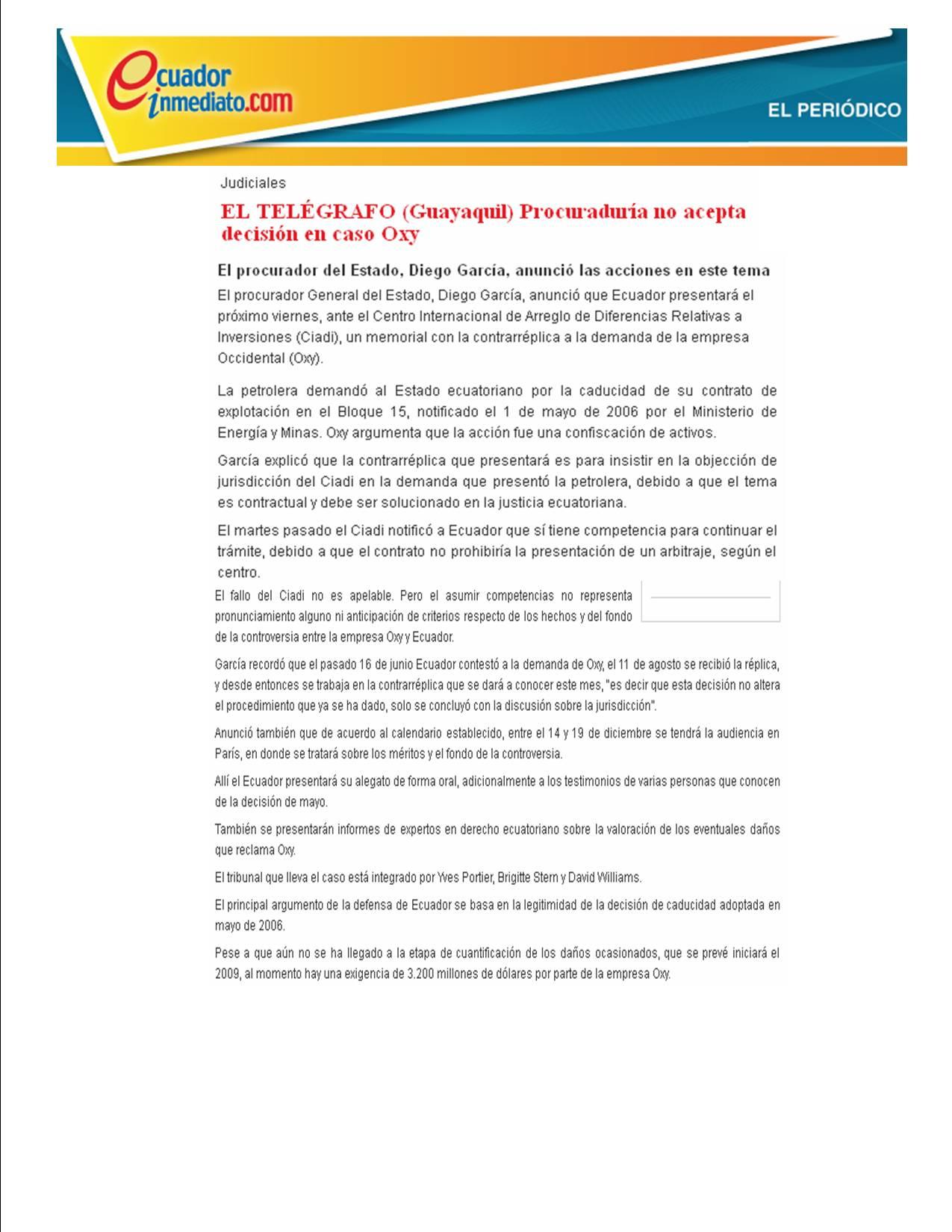4-EL TELEGRAFO -ECUADOINMEDIATO.COM 11-09-2008