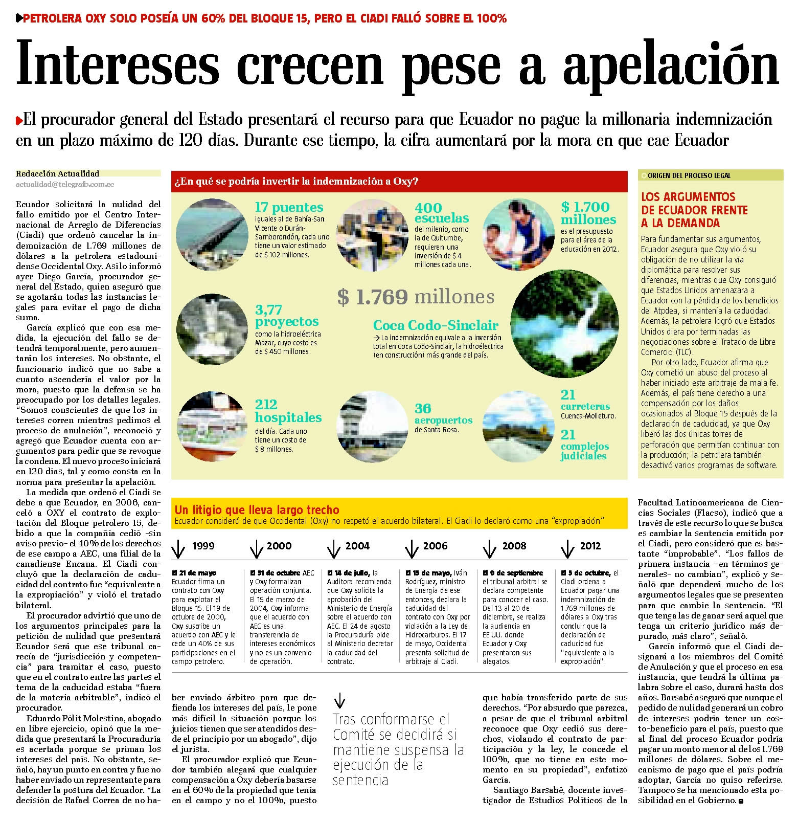 56-El telegrafo, Intereses crecen pese a apelacion 09 10