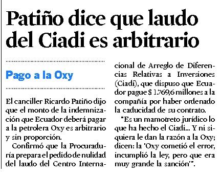 7-2012-10-10_El_Universo_Patino_dice_que_laudo_del_CIADI_es_arbitrario