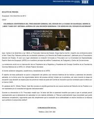 2014-12-03, Boletin, Presentacion libro Oxy Guayaquil